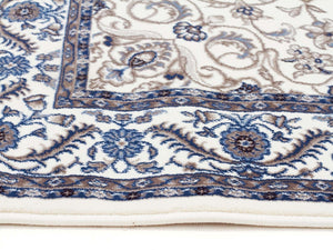 Sydney Medallion Runner White With White Border Runner Rug