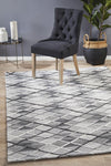 Visions Winter Grey Gravel Modern Rug