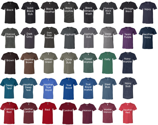 Kat's Closet Graphic Tee Color Chart - Dark