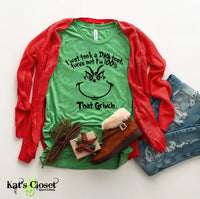 100% That Grinch Custom Graphic T-Shirt Small Tees