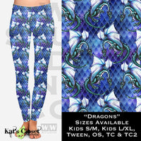 WW Blue Dragons Leggings NonSkull