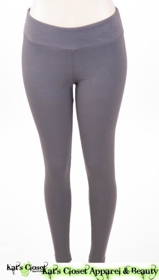 Charlies Project Solid Grey Leggings