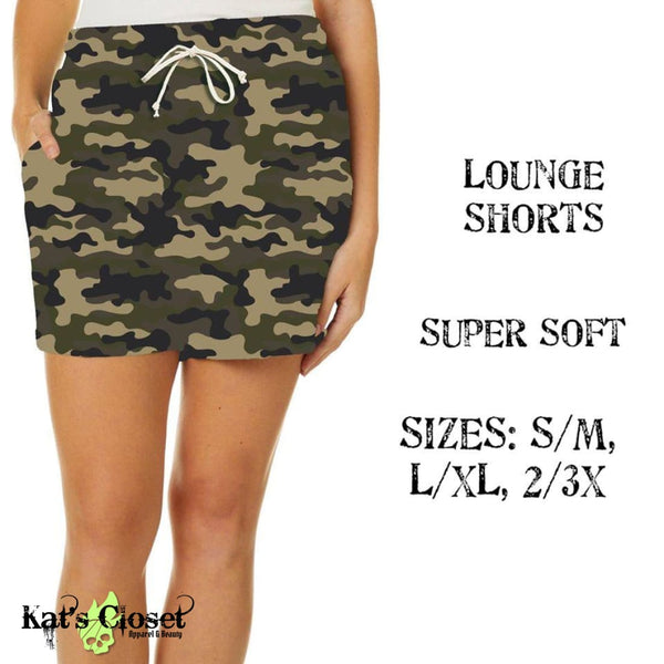 Custom Camo Lounge Shorts - Pre Order Closes 7/3