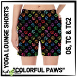 [PRE-ORDER]Custom Colorful Paws Yoga Lounge Shorts - PreOrders Close 3/31