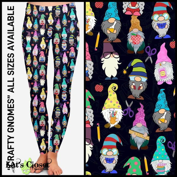 Custom Crafty Gnomes Leggings & Joggers - ETA Early Oct