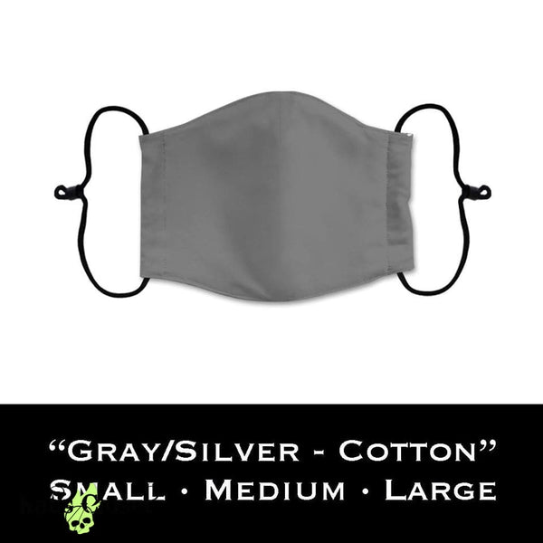 Custom Face Cover 100% Cotton - Solid Grey/Silver