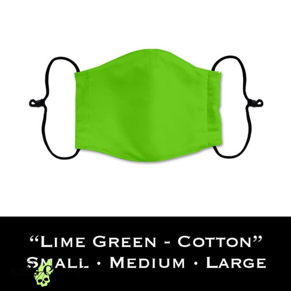 Custom Face Cover 100% Cotton - Solid Lime Green