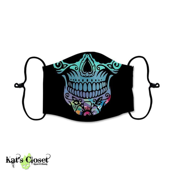 Custom Face Cover - Colorful Sugar Skull