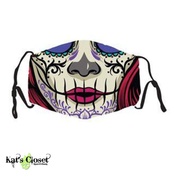 Custom Face Cover - Sugar Skull Lady
