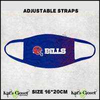 Custom Football Theme Face Cover - Buffalo