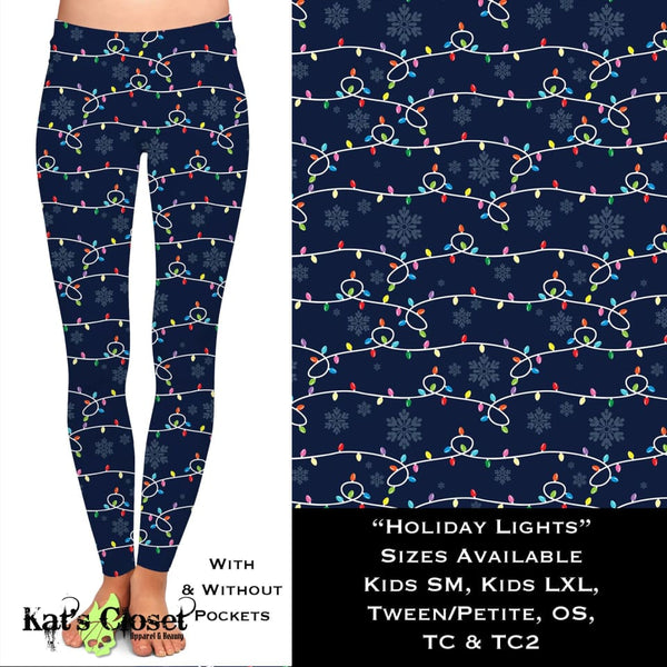 Custom Holiday Lights Leggings & Joggers