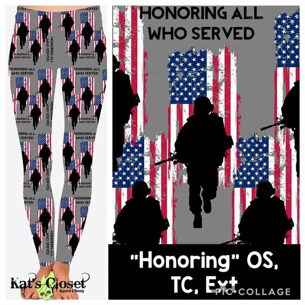 Custom Honoring Leggings - 1 OS IN STOCK