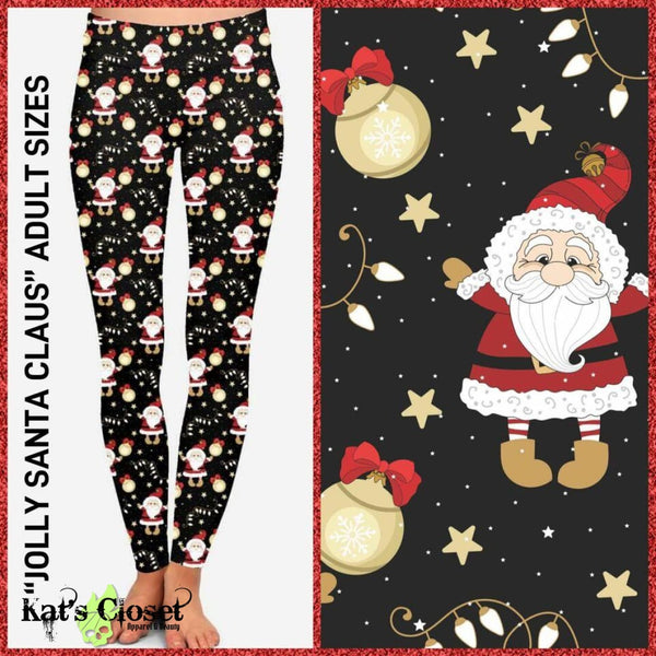 Custom Jolly Santa Leggings - LIMITED EDITION