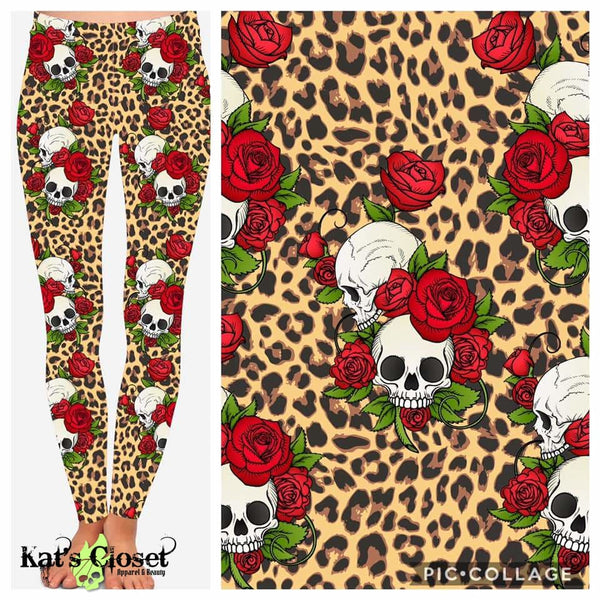 Custom Leopard Skulls Leggings