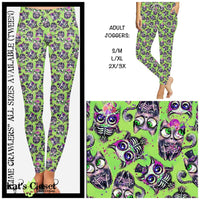 Custom Lime Crawlers Leggings Capris & Joggers