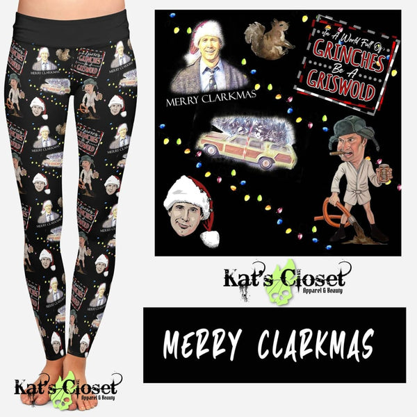 Custom Merry Clarkmas Leggings & Joggers - ETA Mid Nov Ordered Pre-Orders