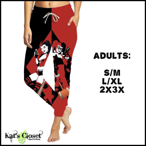 Custom Naughty NOT Nice Leggings OR Joggers - IN STOCK