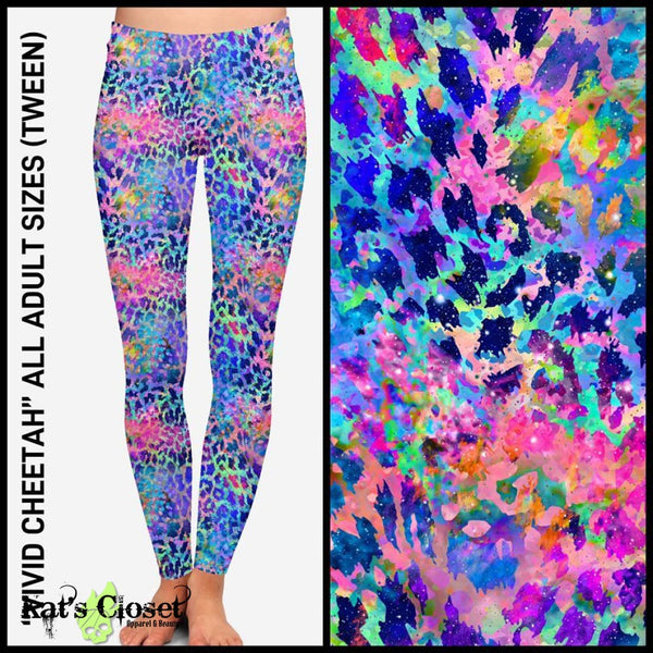 Custom Vivid Cheetah Leggings & Capri Joggers - ETA Early Nov Ordered Pre-Orders