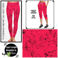 Custom Watermelon Grunge Leggings Capris & Capri Joggers - Pre-Orders Close 5/17