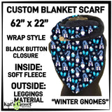 [PRE-ORDER]Custom Winter Gnomes Fleece Wrap Scarf - Pre Orders Close 10/15