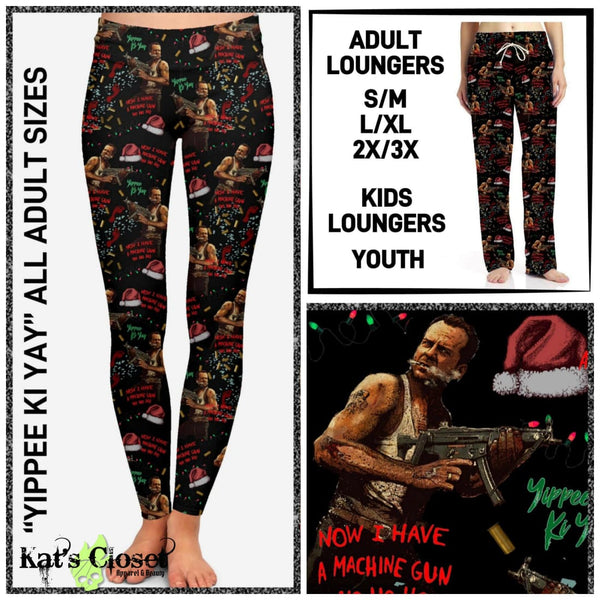 Custom Yippie Ki YaY Leggings & Loungers - ETA Mid/End Nov Ordered Pre-Orders