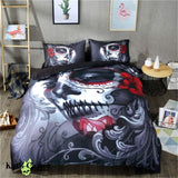 Day Of The Dead Sugar Skull Duvet Cover Bedding Set USA Twin Bedding