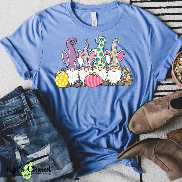 Easter Gnomes Graphic Tee - Kat's Closet