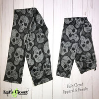KIDS - Charlie's Project Black Paisley Skulls Leggings