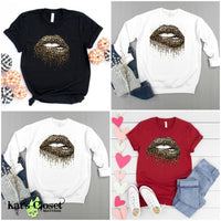 Leopard Lips Custom Graphic T-Shirt & Crew Tees