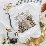 Leopard Trees Custom Graphic T-Shirt - White or Tan Tees