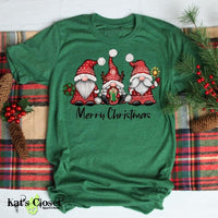 Merry Christmas Gnomes Graphic T-Shirt Tees