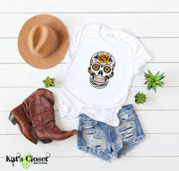 Sugar Skull Graphic T-Shirts - 6 Designs to Choose From Yellow Rose / Small Tees