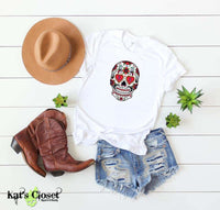 Sugar Skull Graphic T-Shirts - 6 Designs to Choose From Heart Eyes / Small Tees