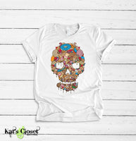 Sweet Goods Skull Graphic T-Shirt Small Tees