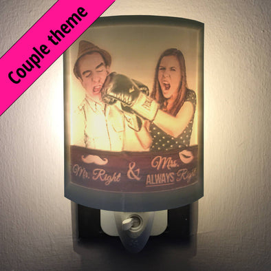 Couple Personalized 2.5D Night Light