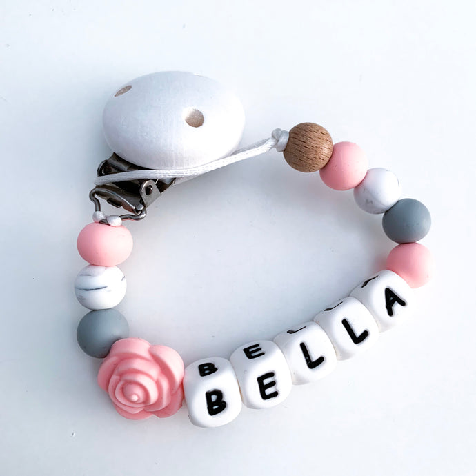 Personalised Rose Dummy Clip