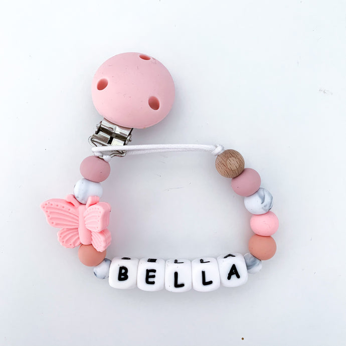 Personalised Butterfly Dummy Clip
