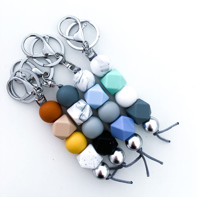 Silver Round/Hex Keyring