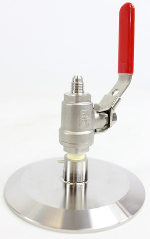 Tri-Clamp Top Cap with Lance Valve
