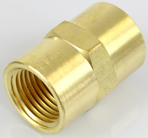 Brass Hex Coupler - Female NPT