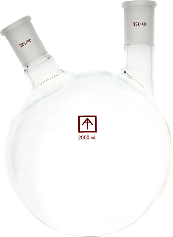 AI 24/40 Heavy Wall 2L Round Bottom 2-Neck Flask