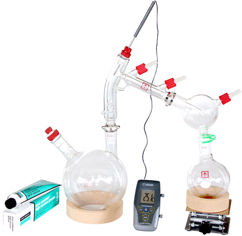 AI Short Path Distillation 2 Liter Kit with Options