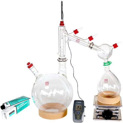 AI Short Path Distillation 5 Liter Kit with Options