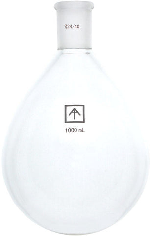 AI 24/40 Heavy Wall 1000mL Oval-Shaped Round Bottom Flask