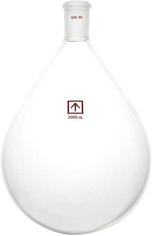AI SolventVap 24/40 Heavy Wall 2000mL Oval-Shaped Round Bottom Flask