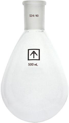 AI SolventVap 24/40 Heavy Wall 500mL Oval-Shaped Round Bottom Flask
