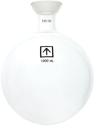 AI 35/20 Heavy Wall 1000mL Round Bottom Receiving Flask