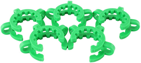 5 Pack of Plastic Keck Clips for 24/40 Joints
