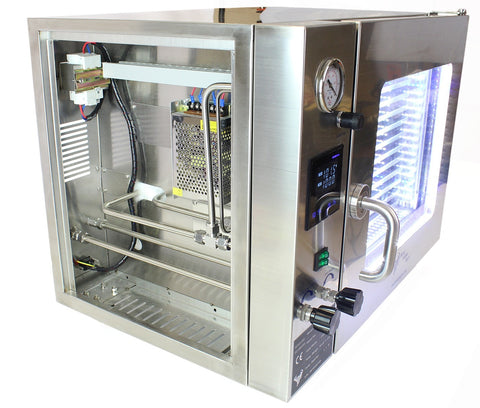 Vacuum Oven 1.9CF Stainless Steel - 5 Wall Heating, Stainless Steel Interior/Exterior, Touch Screen, LED's - 11 Shelves Standard
