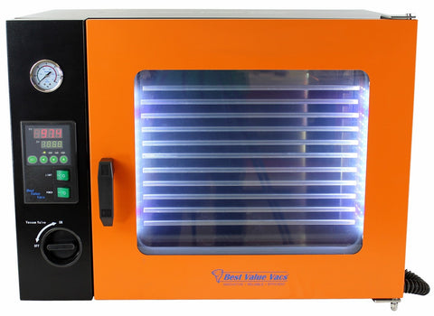 Vacuum Oven 1.9CF ECO - 4 Wall Heating, LED display, LED's - 5 Shelves Standard